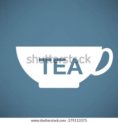 cup with tea icon - stock photo