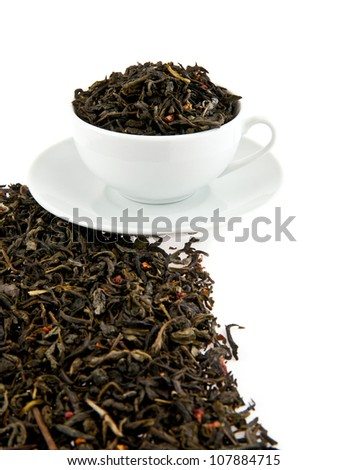 cup with tea on a white background