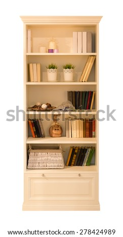 Cupboard for books - stock photo