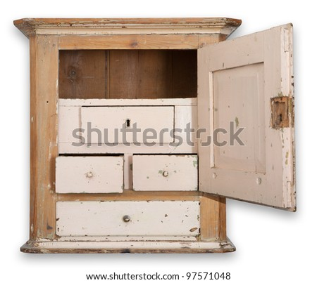 Cupboard Or Wall Cabinet. Antique Furniture In Wood. Traditional Danish  Hanging Tobacco Cupboard With