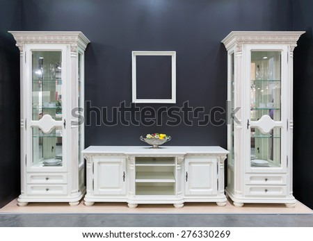 Cupboards in the room - stock photo