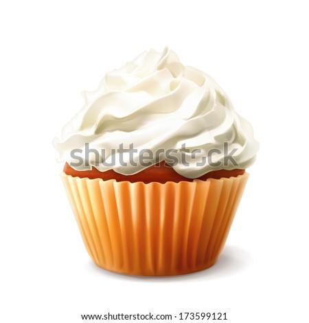 Cupcake, bitmap copy - stock photo