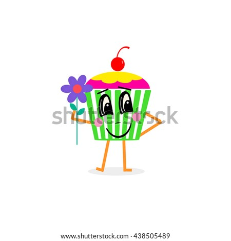 Cupcake - face - stock photo