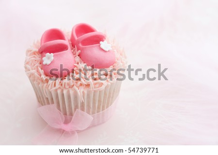 Cupcake for a little girl - stock photo