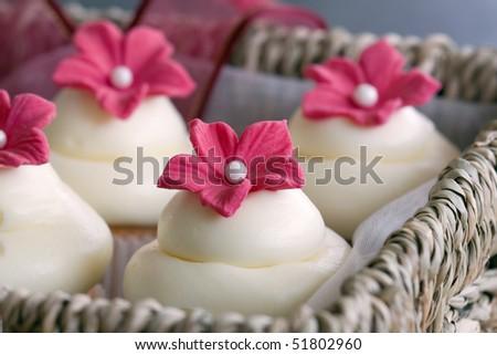 Cupcake gift box - stock photo