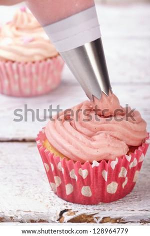 cupcake icing - stock photo