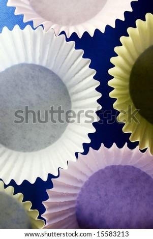 cupcake inserts - stock photo