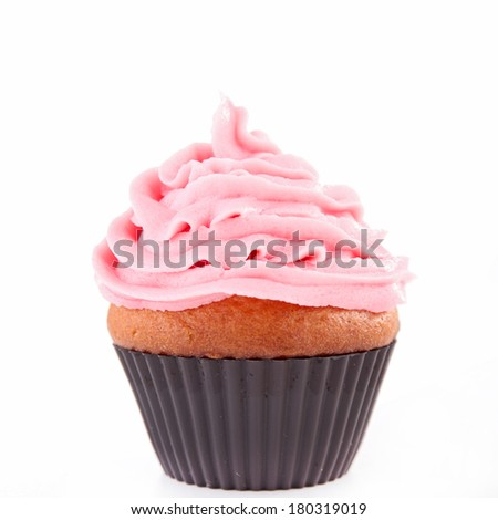 cupcake isolated