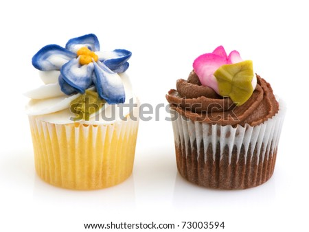Cupcake minis can be eaten in two bites. - stock photo
