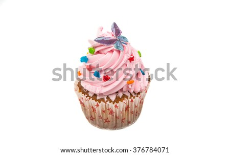Cupcake on a white background