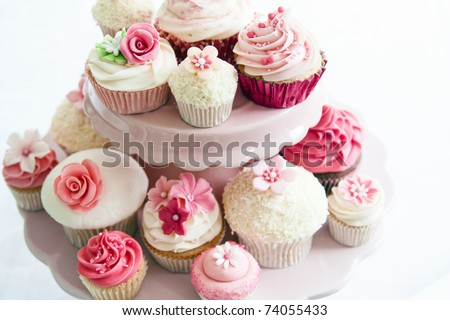Cupcake selection - stock photo