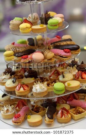 Cupcake wedding cake - stock photo