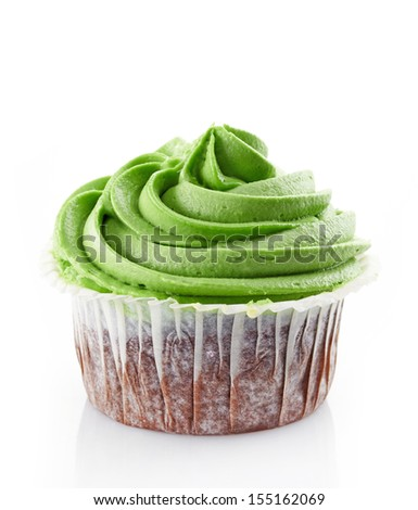 cupcake with cream on a white background