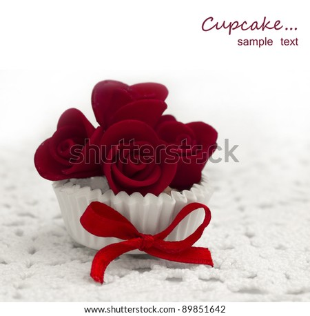 cupcake with place for the text - stock photo