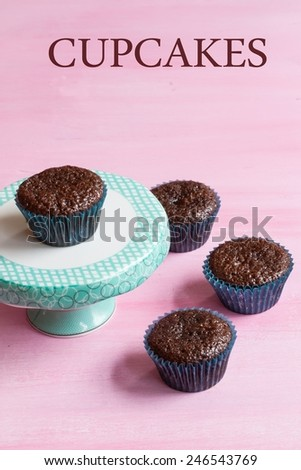 Cupcakes food background - stock photo