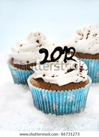 Cupcakes for 2012 - stock photo
