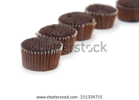 cupcakes isolated on white background.