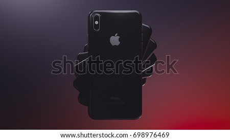 Iphone 8 stock images royalty free images vectors shutterstock cupertino usa 17 august 2017 apple iphone x 3d illustration with apple inc toneelgroepblik Images