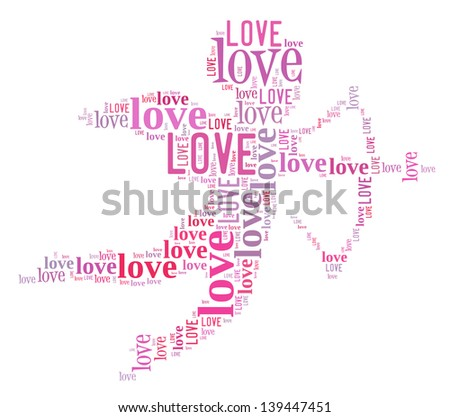 Cupid Love info-text graphics and arrangement concept (word cloud) - stock photo