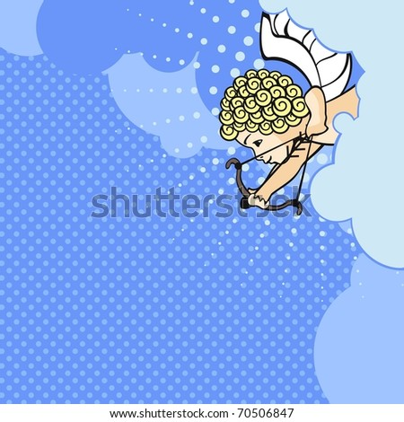 Cupid (raster version) - stock photo