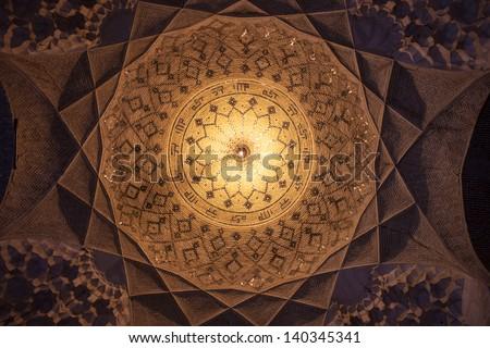 Cupola in Imam mosque in Kerman, Iran - stock photo