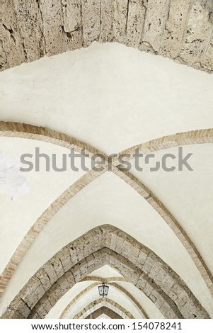 Cupola of old church, old architectural detail, roof of a medieval religious building - stock photo