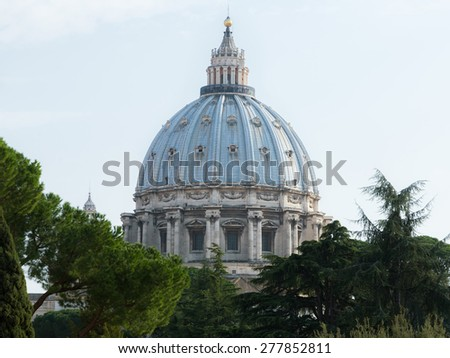 Cupola of the Cathedral of Saint Peter, Vatican, Rome, Italy