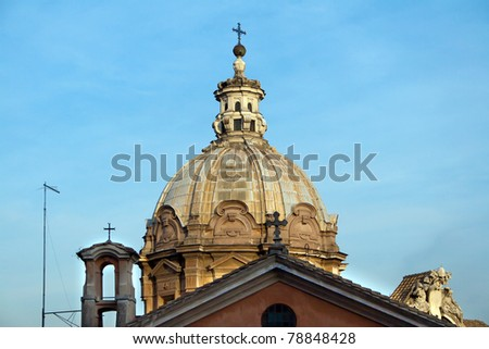 Cupola Petersdom in Rome. Italy.