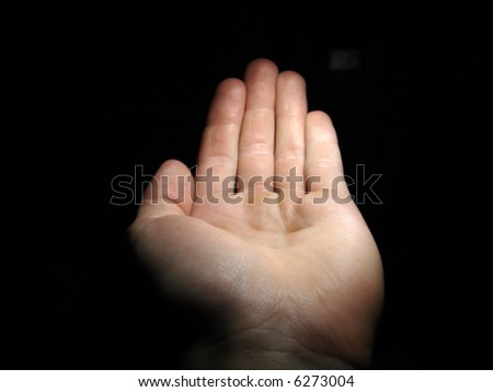 Cupped hand. Photoshop whatever you like in it. - stock photo