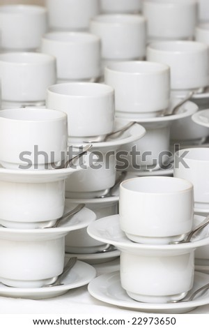 cups for tea and coffee.