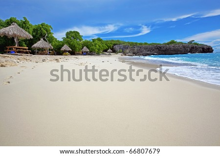 Curacao beach - stock photo