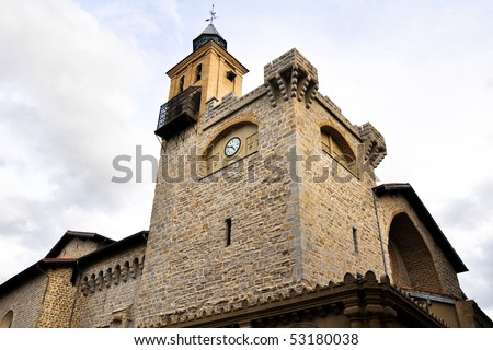 Curch-fortress in Pamplona