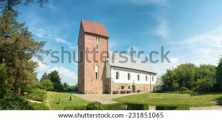 Curch St. Severin in Keitum on the island Sylt in Germany - stock photo