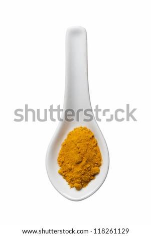 curcuma powder - stock photo