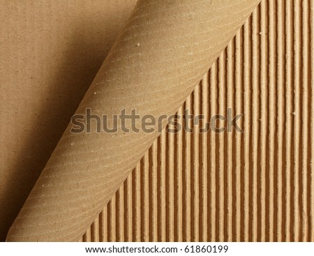 Curl peeling cardboard - stock photo
