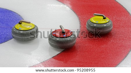 Curling Stone - stock photo