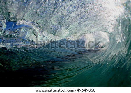 curling wave - stock photo