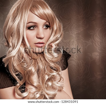curly blond girl Brigitte Bardot like