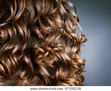Curly Hair. Hairdressing. Wave - stock photo