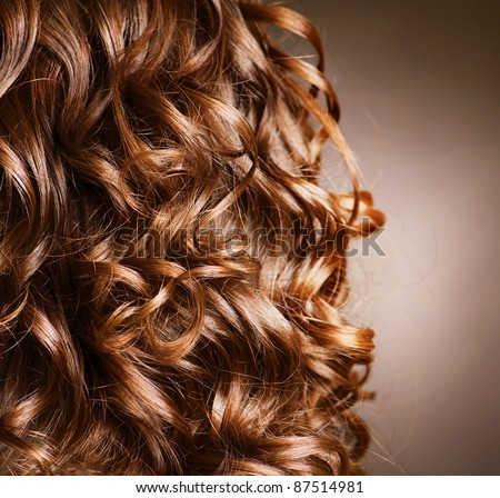 Curly Hair. Hairdressing. Wave .Natural Hair - stock photo