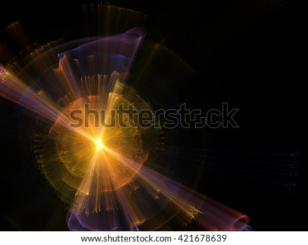 curly lines abstract background gradient  - stock photo