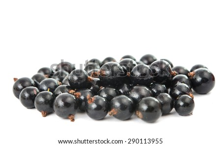 currants on a white background