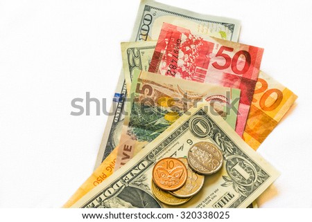 Currencies from different countries - stock photo