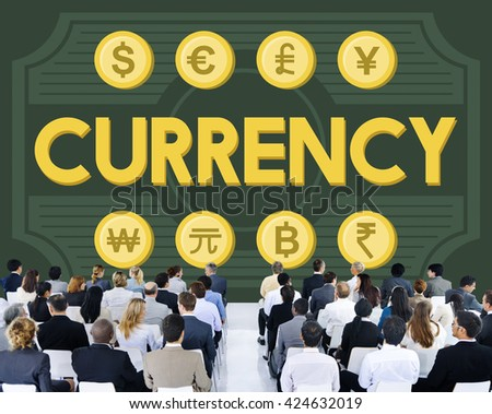 Currency Accounting Economy Icon Banking Concept - stock photo