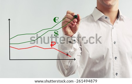 Currency appreciation concept - stock photo
