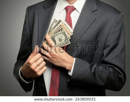 Currency, Bribing, Wealth. - stock photo