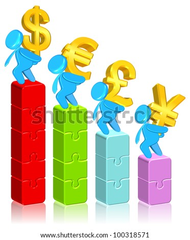 Currency Business Chart - stock photo