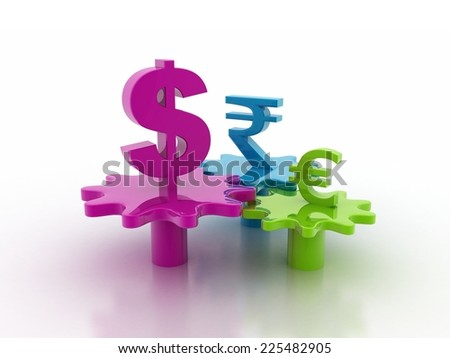 currency converter - stock photo