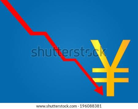 Currency Crisis Yen - stock photo