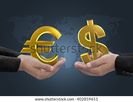 Currency dollar euro gold